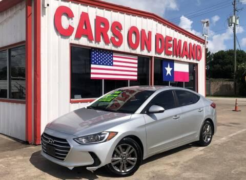 2017 Hyundai Elantra for sale at Cars On Demand 2 in Pasadena TX