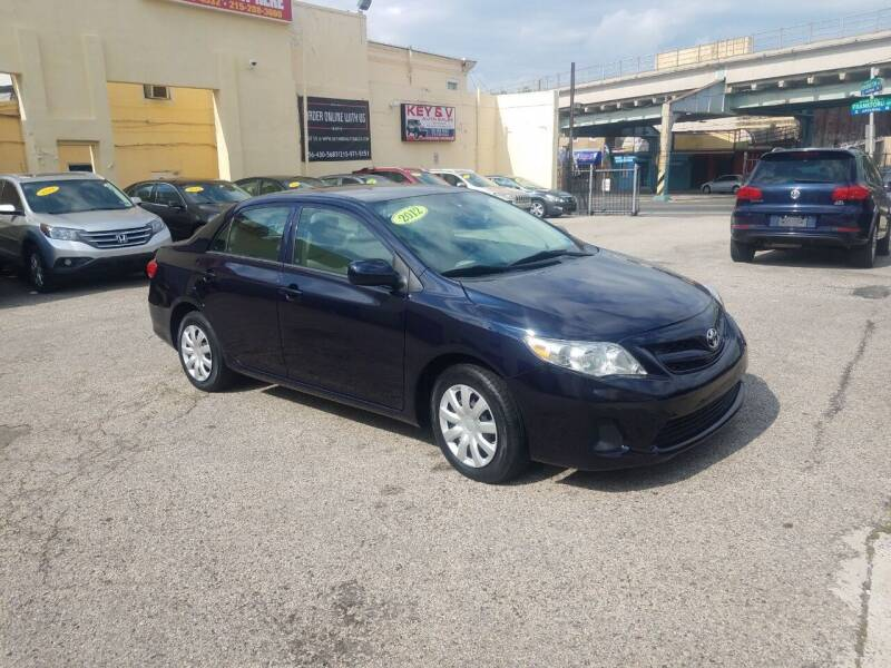 2012 Toyota Corolla for sale at Key and V Auto Sales in Philadelphia PA