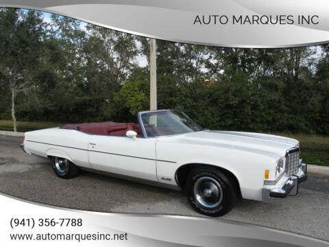 1974 Pontiac Grand Ville for sale at Auto Marques Inc in Sarasota FL