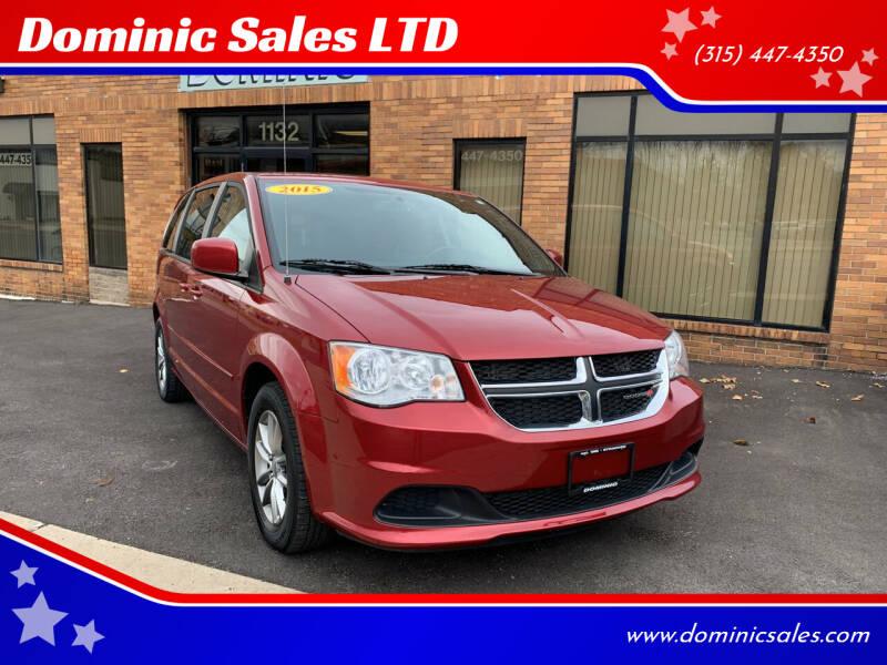 2015 Dodge Grand Caravan for sale at Dominic Sales LTD in Syracuse NY