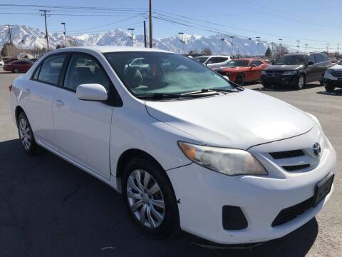 2012 Toyota Corolla for sale at INVICTUS MOTOR COMPANY in West Valley City UT