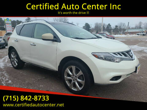 2014 Nissan Murano for sale at Certified Auto Center Inc in Wausau WI