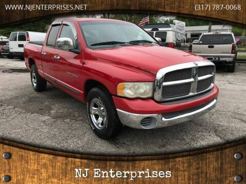 2002 Dodge Ram Pickup 1500 for sale at NJ Enterprises in Indianapolis IN