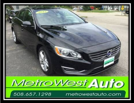 2015 Volvo S60 for sale at Metro West Auto in Bellingham MA