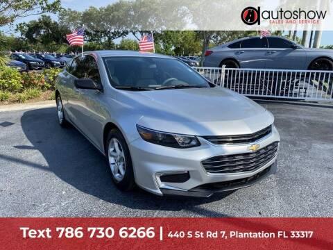 2018 Chevrolet Malibu for sale at AUTOSHOW SALES & SERVICE in Plantation FL