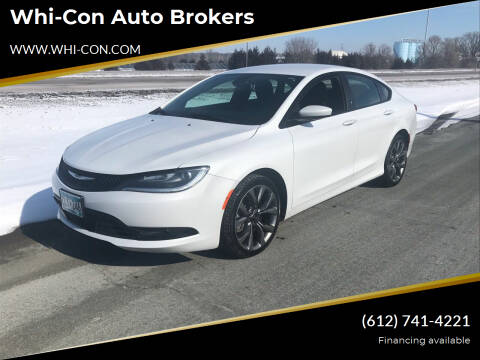 2015 Chrysler 200 for sale at Whi-Con Auto Brokers in Shakopee MN