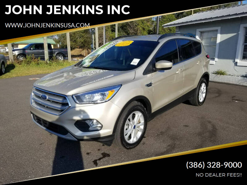 2018 Ford Escape for sale at JOHN JENKINS INC in Palatka FL