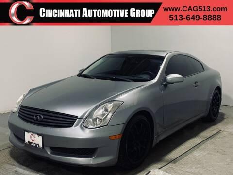 2007 Infiniti G35 for sale at Cincinnati Automotive Group in Lebanon OH