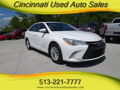 2015 Toyota Camry for sale at Cincinnati Used Auto Sales in Cincinnati OH