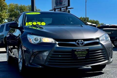 2016 Toyota Camry for sale at Island Auto in Grand Island NE