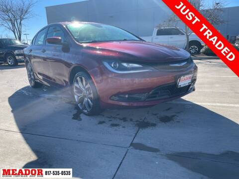 2015 Chrysler 200 for sale at Meador Dodge Chrysler Jeep RAM in Fort Worth TX