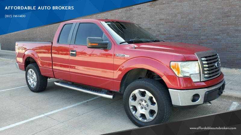 2012 Ford F-150 for sale at AFFORDABLE AUTO BROKERS in Keller TX