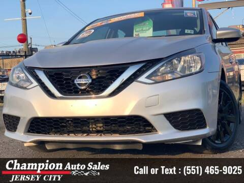 2017 Nissan Sentra for sale at CHAMPION AUTO SALES OF JERSEY CITY in Jersey City NJ