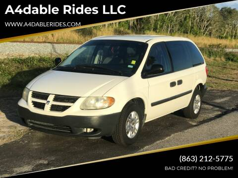 2007 Dodge Caravan for sale at A4dable Rides LLC in Haines City FL