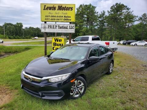 2016 Honda Civic for sale at Lewis Motors LLC in Deridder LA