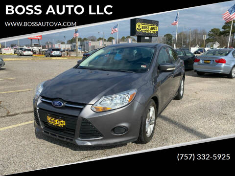 2014 Ford Focus for sale at BOSS AUTO LLC in Norfolk VA