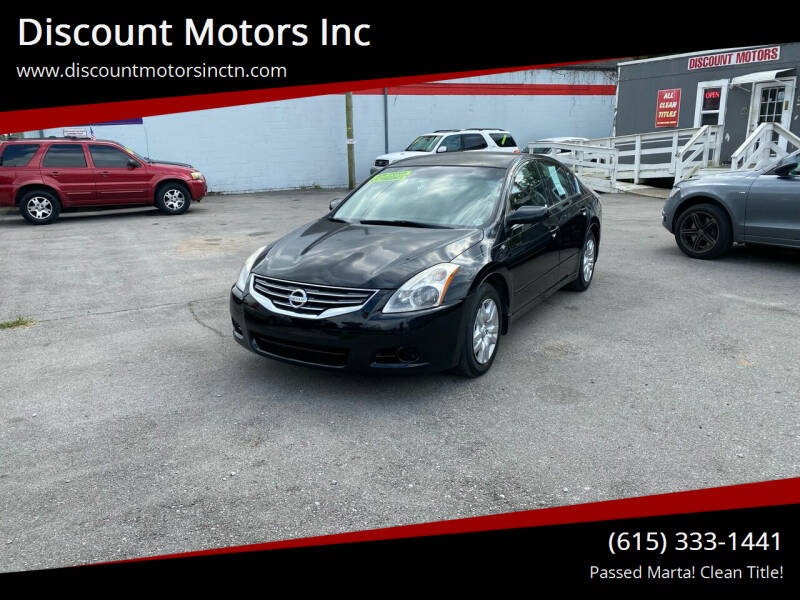 2012 Nissan Altima for sale at Discount Motors Inc in Nashville TN
