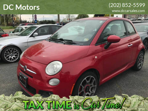 2012 FIAT 500 for sale at DC Motors in Springfield VA