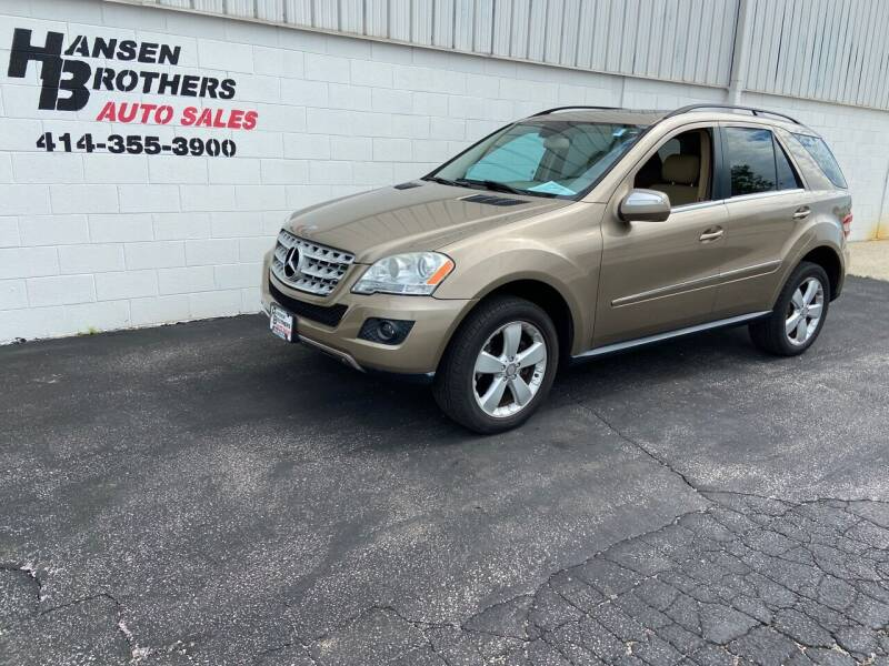 2010 Mercedes-Benz M-Class for sale at HANSEN BROTHERS AUTO SALES in Milwaukee WI