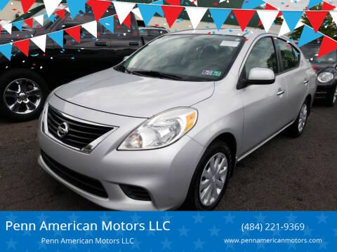 2013 Nissan Versa for sale at Penn American Motors LLC in Allentown PA