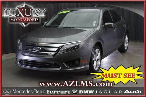 2012 Ford Fusion for sale at Luxury Motorsports in Phoenix AZ