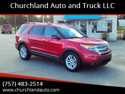 2012 Ford Explorer for sale at Churchland Auto and Truck LLC in Portsmouth VA