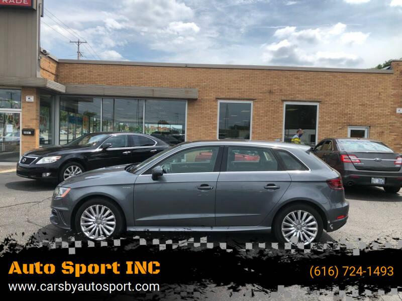 2016 Audi A3 Sportback e-tron for sale at Auto Sport INC in Grand Rapids MI