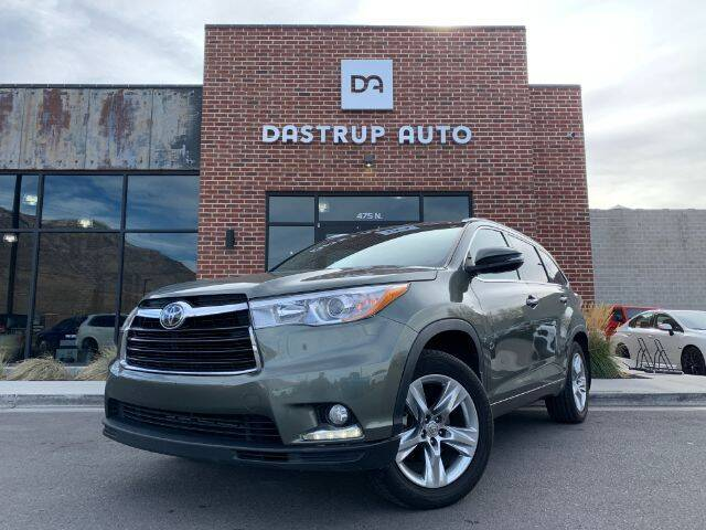 2015 Toyota Highlander for sale at Dastrup Auto in Lindon UT