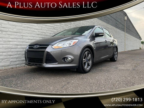 2014 Ford Focus for sale at A Plus Auto Sales LLC in Denver CO