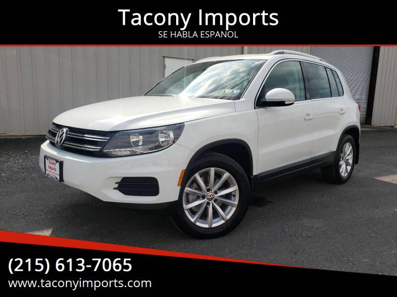 2017 Volkswagen Tiguan for sale at Tacony Imports in Philadelphia PA