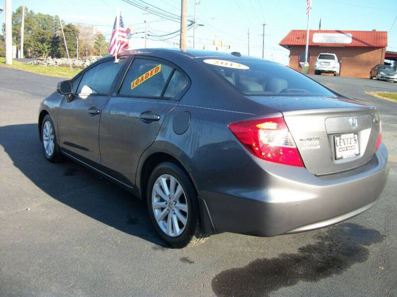 2012 Honda Civic for sale at Lentz's Auto Sales in Albemarle NC