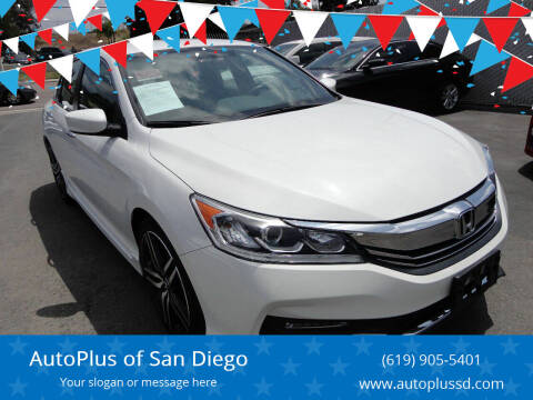 2016 Honda Accord for sale at AutoPlus of San Diego in Spring Valley CA