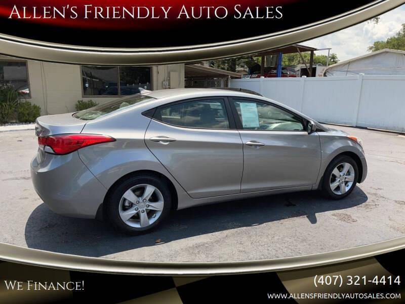 2013 Hyundai Elantra for sale at Allen's Friendly Auto Sales in Sanford FL
