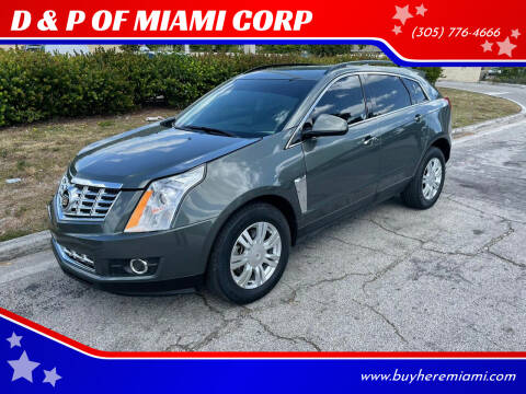 2013 Cadillac SRX for sale at D & P OF MIAMI CORP in Miami FL