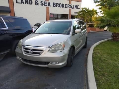 2007 Honda Odyssey for sale at LAND & SEA BROKERS INC in Deerfield FL