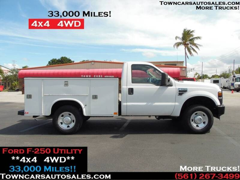 2008 Ford F-250 Super Duty for sale at Town Cars Auto Sales in West Palm Beach FL