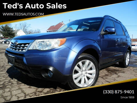 2012 Subaru Forester for sale at Ted's Auto Sales in Louisville OH