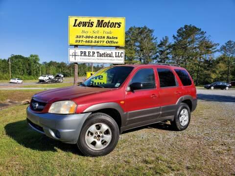 2004 Mazda Tribute for sale at Lewis Motors LLC in Deridder LA