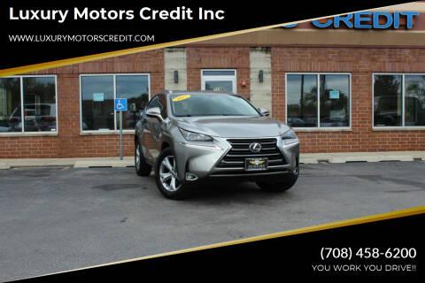 2017 Lexus NX 200t for sale at Luxury Motors Credit Inc in Bridgeview IL