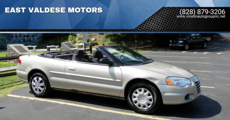 2006 Chrysler Sebring for sale at EAST VALDESE MOTORS / VINSON AUTO GROUP in Valdese NC