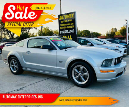 2006 Ford Mustang for sale at AUTOMAX ENTERPRISES INC. in Roseville CA