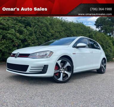 2017 Volkswagen Golf GTI for sale at Omar's Auto Sales in Martinez GA