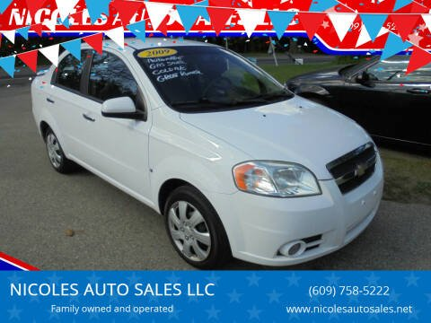 2009 Chevrolet Aveo for sale at NICOLES AUTO SALES LLC in Cream Ridge NJ
