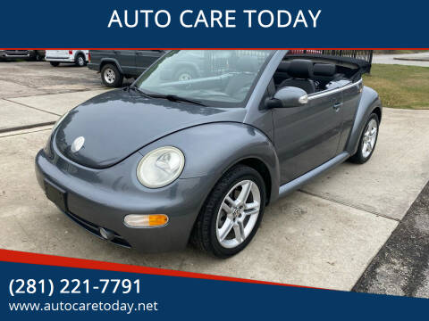 2005 Volkswagen New Beetle Convertible for sale at AUTO CARE TODAY in Spring TX
