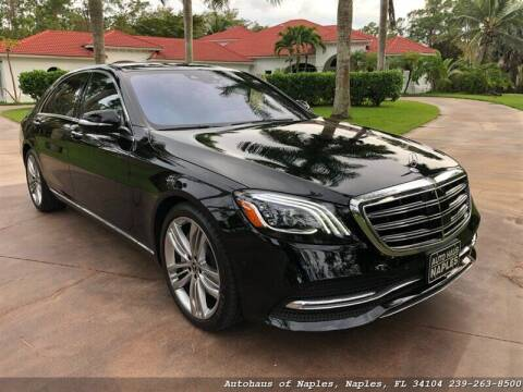2018 Mercedes-Benz S-Class for sale at Autohaus of Naples Inc. in Naples FL