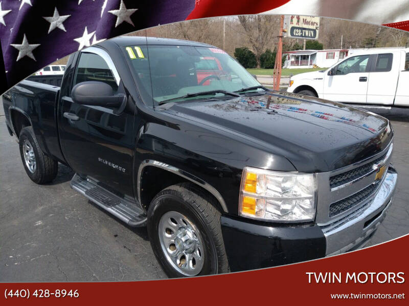 2011 Chevrolet Silverado 1500 for sale at TWIN MOTORS in Madison OH