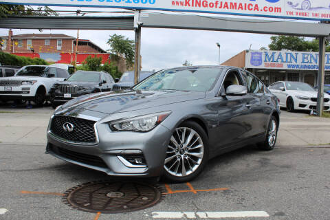 2018 Infiniti Q50 for sale at MIKEY AUTO INC in Hollis NY