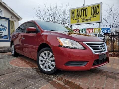 2015 Nissan Sentra for sale at M AUTO, INC in Millcreek UT