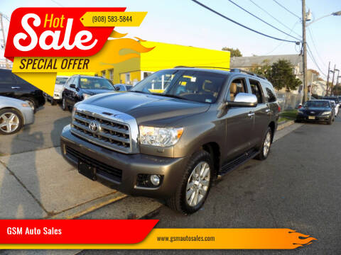 2010 Toyota Sequoia for sale at GSM Auto Sales in Linden NJ