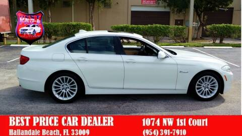 2011 BMW 5 Series for sale at Best Price Car Dealer in Hallandale Beach FL